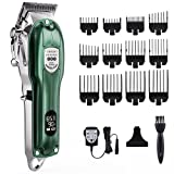 Hair Clippers for Men, Pro Hair Clippers for Barbers and Stylists, Mens Hair Clippers Cord/Cordless Hair Trimmer LCD Durable Haircut Kit with Run Time Up to 5 Hours