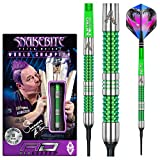 RED DRAGON Peter Wright Snakebite Mamba 18g Peso Barril, 20g Peso Total Softip Tungsten Darts con Flights y Ejes