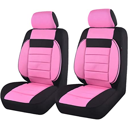 One Front Seat Cover HORSE KINGDOM Universal Ethnic Car Seat Covers For Women Girl Two Front Seat Airbag Compatible For Cars,Trucks,Suvs,Sedans