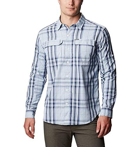 Columbia Men's Silver Ridge 2.0 Plaid Long Sleeve Shirt, Sky Blue Multi Plaid, Large