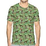 EU Puntero de Pelo Corto alemán Perros Navidad Hombre Dibujos Animados Divertido Gráfico Impreso Casual Halloween Camisetas S