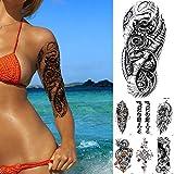 7 Piezas Mecánico Biónico Engranaje Etiqueta Engomada Del Tatuaje Temporal Flash Tatuajes Impermeables Robot 3D Electricidad Arte Brazo Tatuaje Falso Mujeres Hombres
