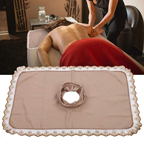 50 * 80 massagetafel hoofd voorblad met gat schoonheid spa bed hoofd handdoek massage matras gezicht liegen(Lichte tint)