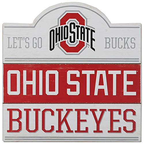 Open Road Brands Ohio State University Buckeyes Bump Planked Wood Wall Décor