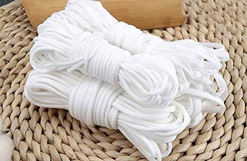 Montegoni® 5 Met. weiß elastische Gummikordel 3mm, Gummiband Rund, Schnur, Elastikkordel 3mm zum Nähen, elastisches Seil für Basteln Schmuck Kleidung Nähzubehör