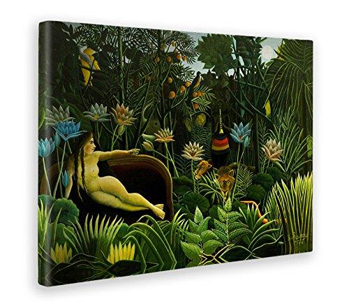 Giallobus - Quadro - Stampa su Tela Canvas - Henri Rosseau - Il Sogno - 70 X 100 Cm