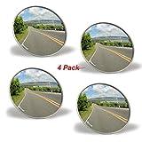 Zento Deals 4 Pcs 2' Rearview Blind Sport Mirrors Stick-On