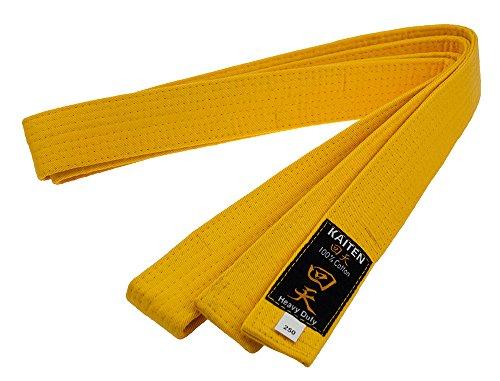 Kaiten Karategürtel Gürtel Budogürtel Baumwolle (gelb) (275)