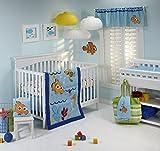 Disney Nemo Wavy Days 4 Piece Crib Bedding Set by Disney