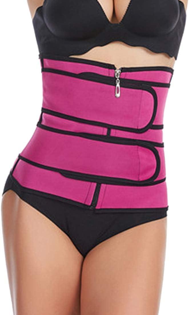 MoneRffi Womens Waist Trainer Belt Corset Tummy Tucker Weight Loss Underbust Sport Girdle Hourglass Fitness Body Shaper