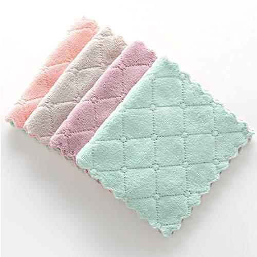 NA - Panno di pulizia in microfibra, 4 colori per pulire la barra di vetro, 4 pezzi