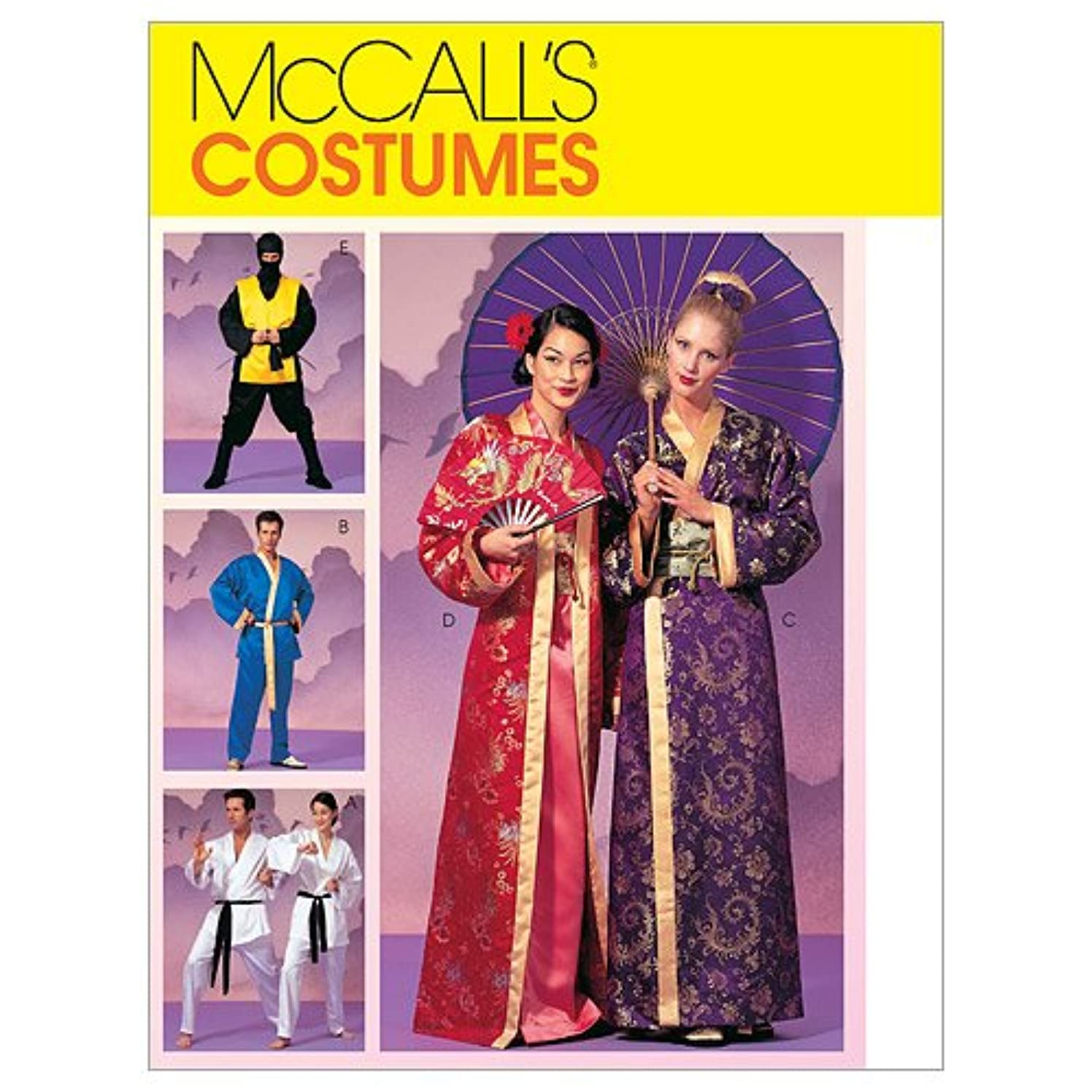 McCall's Patterns M2940 Misses', Men's and Teen Boys' Robe Costumes, Size Z (LRG-XLG)