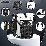 modernUP 3in1 Fahrradtasche - wasserdicht & reflektierend - als Gepäckträgertasche, Umhängetasche, Laptoptasche & Rucksack einsetzbar - inkl. Helm Aufbewahrungsnetz - (Weiß, 27 Liter)