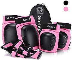 Gonex 6 in 1 Beschermende Knie Pads Set, Skate Beschermende Gears met Elleboog Knie Pols Guards Pads, Skate Pads voor...
