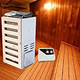 ZRKJ-jl Tiempo de la Estufa de la Sauna eléctrica de 220V Tiempo, fácil de Instalar, Baño de Vapor seco de Acero Inoxidable para la Sala de Sauna de la Sauna de la Sala de Sauna, Control Interno, 3kw