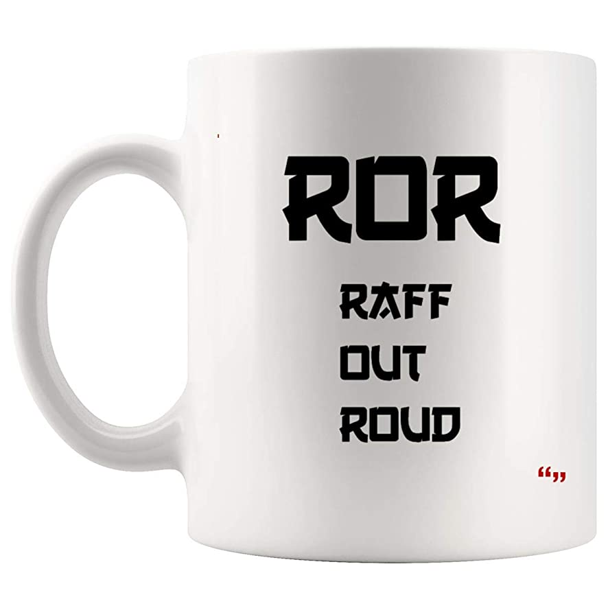 Gag Mug Coffee Cup - Raff Out Roud Asian Stereotype Joke Humorous Party Gifts Cups Coffee Mugs