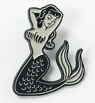 Mermaid Pin Up Girl Tattoo Lover Enamel Lapel Pin