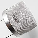 6' Stainless Steel Mesh Ultrasonic Task Basket with Handle Jewelry Parts Cleaning Holder