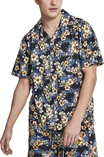 Urban Classics Herren Pattern Resort Shirt Freizeithemd, Mehrfarbig (Hibiscus 01682), (Herstellergröße: XX-Large)
