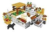 Ingenious Toys Raro Granja Set Animales Alimentación Vegetal Creciente & Agricultores Creator 28501