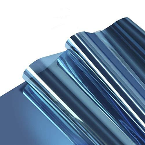ZXL folie voor ramen, isolatiefolie, zonwering, glas, etiket voor thuis, unidirectioneel balkon, slaapkamer, gebouwen, zonneschaduw, eenvoudig te bedienen, 90 x 500