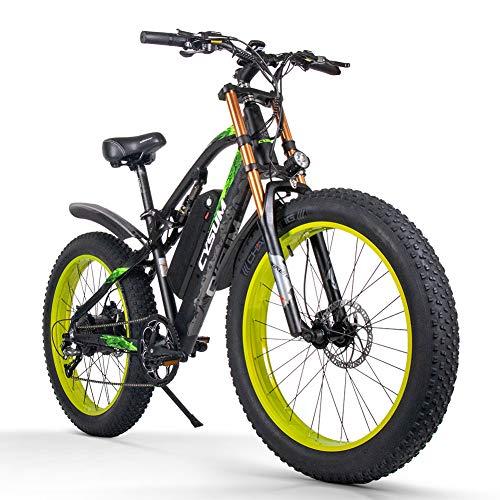 cysum vélos électriques pour Hommes, Gros Pneu 26 Pouces Ebi