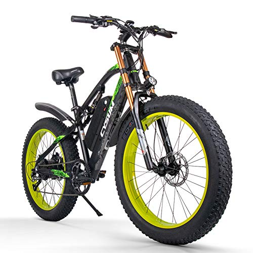 cysum Bicicletas eléctricas para Hombres, Fat Tire Ebikes d