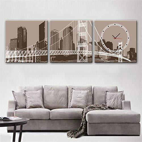 MKJ004 Moderne minimalistische creatieve lamp/moderne stijl canvas schilderij elegante bloem stilleven muur klok canvas 2st\\t