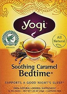 Yogi Tea Herbal Tea Caffeine Free, Soothing Caramel Bedtime, 16 Count, 1.07 Ounce