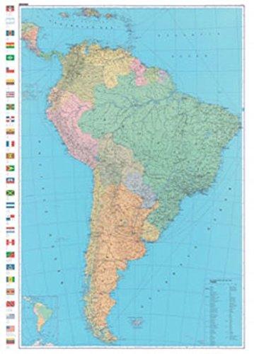 Poster Südamerika, 1:8 Mio., politisch (Kümmerly+Frey Welt- und Kontinentkarten)