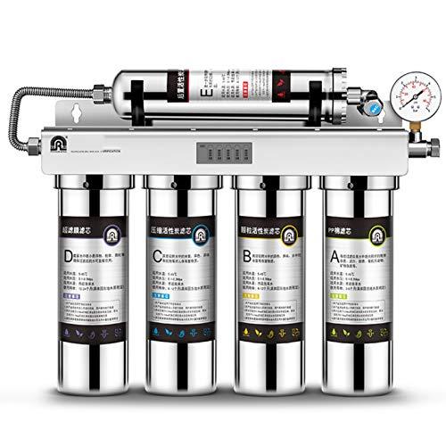 LIANGJING Filtro de Agua del Grifo de la Cocina de Consumo Directo en el hogar Filtración en Cinco etapas Retención de minerales por ultrafiltración