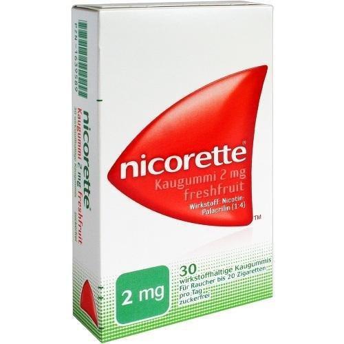 Nicorette 2 mg freshfruit Kaugummi, 30 St.