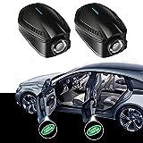 2 unids Inalámbrico General Proyección de automóviles LED LIGHT HD Patrón Logo Ghost Shadow Emblem Ceremonial Light (versión recargable), adecuada para puerta de bienvenida a puerta