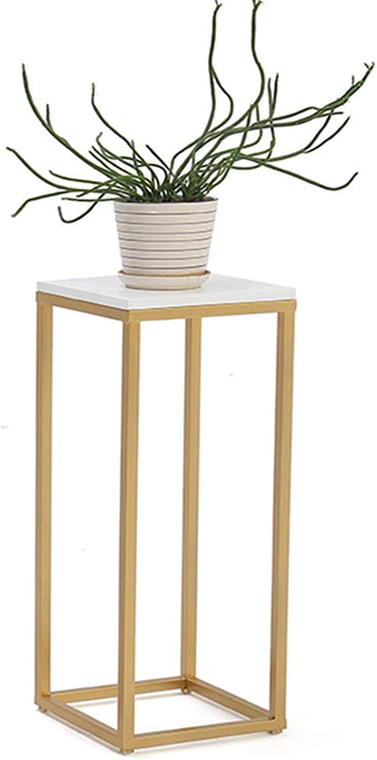 Garden Flower Pot Rack Home Flower Stand Durable Nordic gold Flower Stand Iron Art Solid Wood Landing Flower Stand Bonsai Frame Living Room Balcony Household Indoor Flower Stand Shelf,A ( color   C )