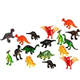 100 Piece Party Pack Mini Dinosaurs - Plastic Mini Educational Dinosaur Animal Toys - Fun Gift Party Giveaway