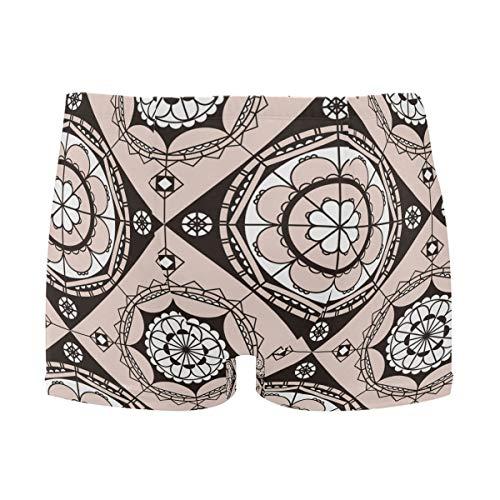 Mr.XZY India Pattern Men Swimsuit Boxer Trunks Male Swimwear 2010245