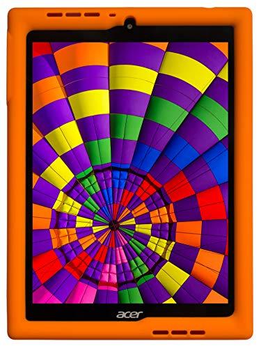 BobjGear Bobj Rugged Tablet Case for Acer Chromebook Tab 10 (D651N) Kid Friendly (Outrageous Orange)
