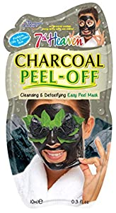 7th Heaven Montagne Jeunesse Charcoal Peel Off Mask with Witch Hazel and Birch Leaf for Easy Cleansing and Soothing