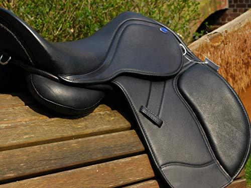 Pony Shetty Ledersattel WEICH ! Sattel Leder Mono ! Modell Beauty 14 15 Zoll Schwarz Glitzer ! Kammer anpassbar + Kopfeisen Set anbei ! Tysons (14 Zoll)