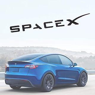 Top-Tech Space X Decals 3D Metal Car Rear Trunk Emblem Sticker Badge Decals Compatible Tesla Model S Model 3 Model X model...