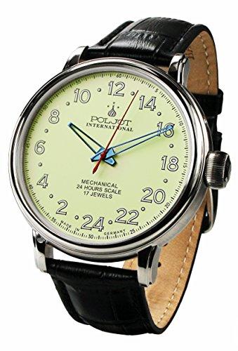 Orologio meccanico da uomo con 24 ore di visualizzazione Polar Bear