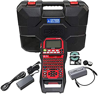 LABELWORKS LW-PX900PCD Industrial Label Maker Kit - Complete Kit With Accessories, Compatible With All Epson LABELWORKS PX Tape Types, Portable Handheld Label Printer