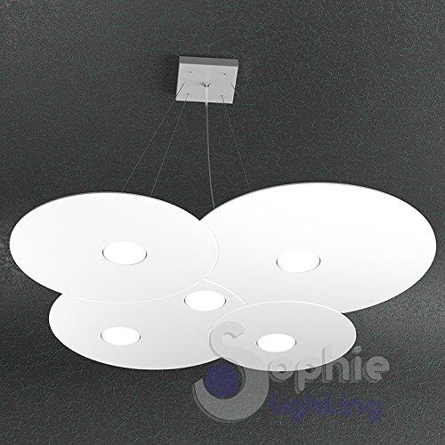 Lámpara Lámpara Techo Grande Ajustable Panel Slim nube redondo 73x 67cm LED...