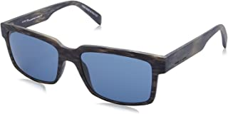 نظارة شمس بعدسات شبه مربعة وشنبر منقوش للنساء من ايطاليا انديبندنت - ازرق