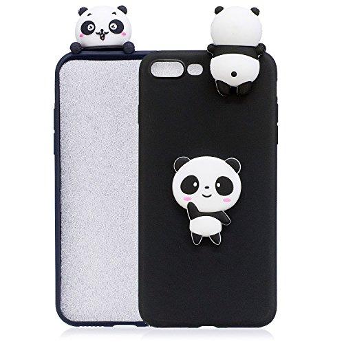 iPhone 6s Plus 3D Animal Cell Phone TPU Case Cute Maneki Neko Peeking on Top Slim Flexible Crystal Silicone Protective TPU Gel Skin Case Cover for iPhone 6 Plus(iPhone 6s Plus/6 Plus, Cat Girl)