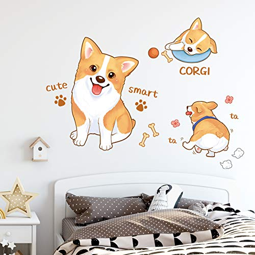 Cute Cartoon Dog Stickers Refrigerator Wardrobe Door Decoration Small Pattern Stickers Children'S Room Wall Layout Wall Stickers