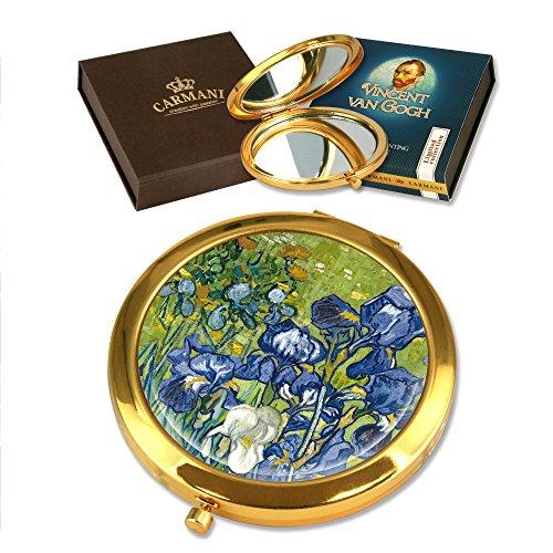 CARMANI - Miroir plaqué Or avec Monet Van Gogh de Peinture