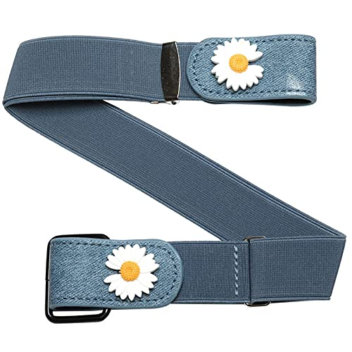 2021 new jeans without buckle belt, fashion without buckle all-match elastic belt, elastic lazy belt. 1PC(blue)