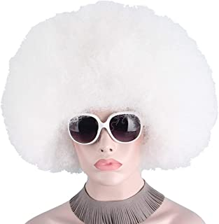 Afro Clown Wig Big Top Fans Party Wigs Women Men Kids Curly Football Fans Wig None Lace Wigs Synthetic Hair Unsex Synthetic None-lacewigs