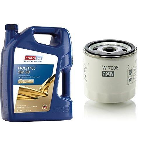 EUROLUB MULTITEC 5W-30 Motoröl, 5 Liter + MANN FILTER W7008 Ölfilter